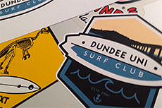 surf club stickers