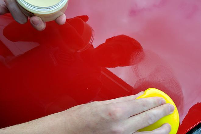 applying wax