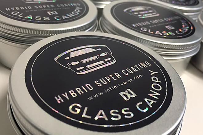 sparkly tin label