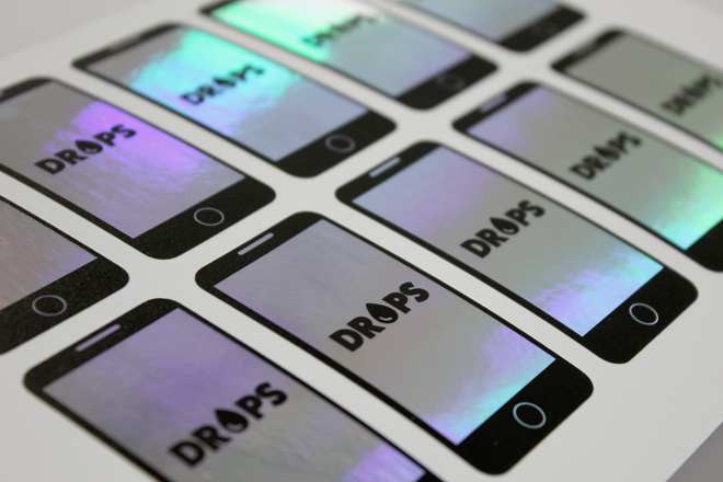 iridescent sticker printing