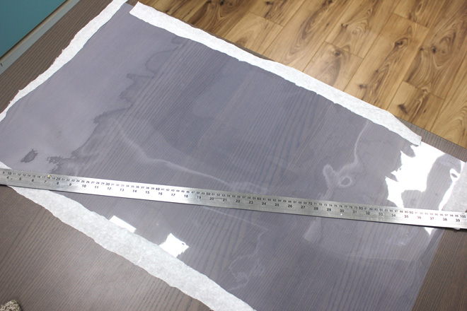 clear acetate for print mounting