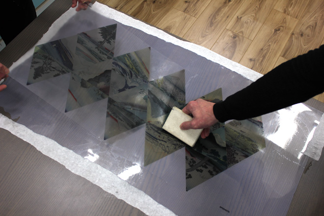 applying graphic to acetate