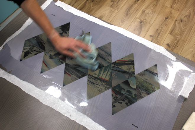 cleaning acetate graphic