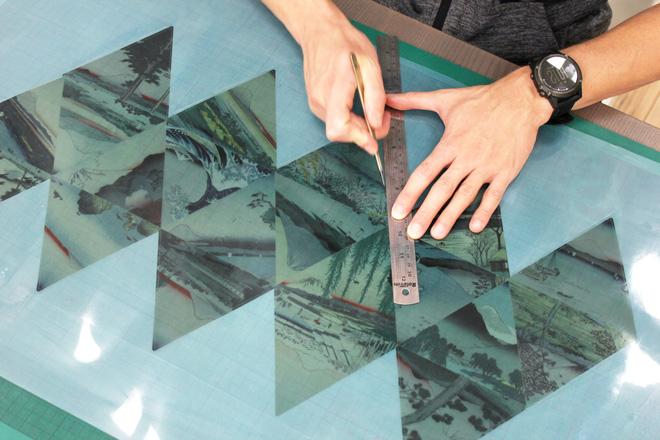 cutting and scoring printed acetate