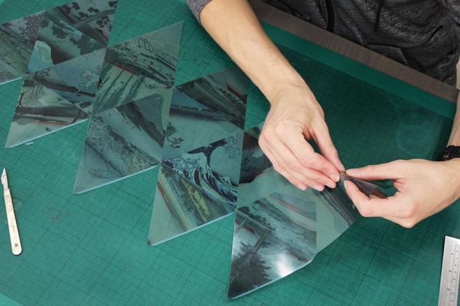 folding printed acetate