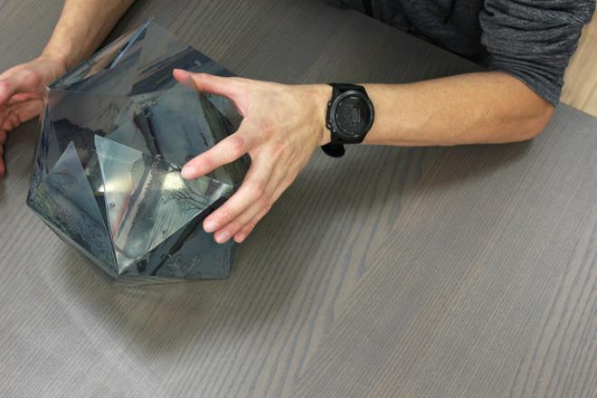 assembling printed lantern