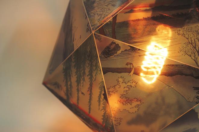 illuminated printed lantern