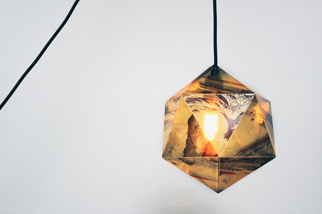 printed japanese lamp