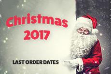 Last order dates – Christmas 2017