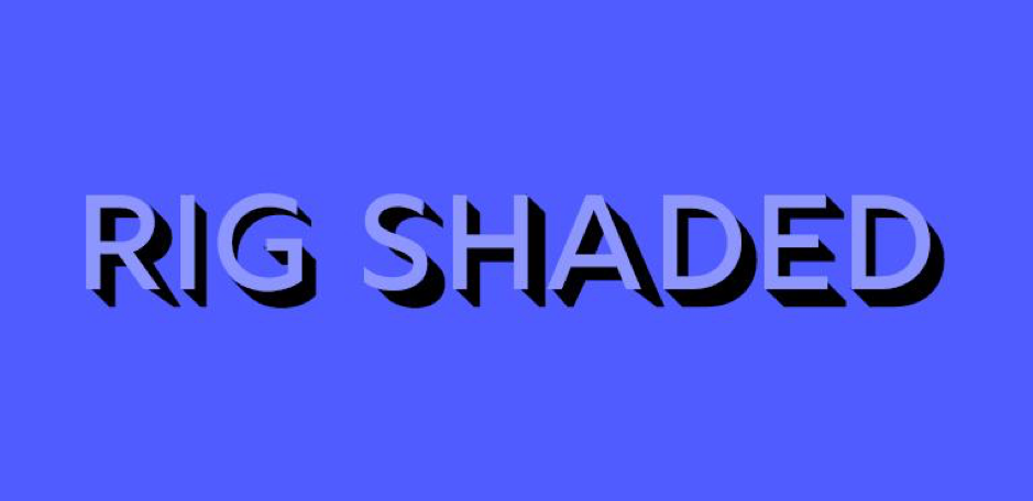 Rig Shaded font