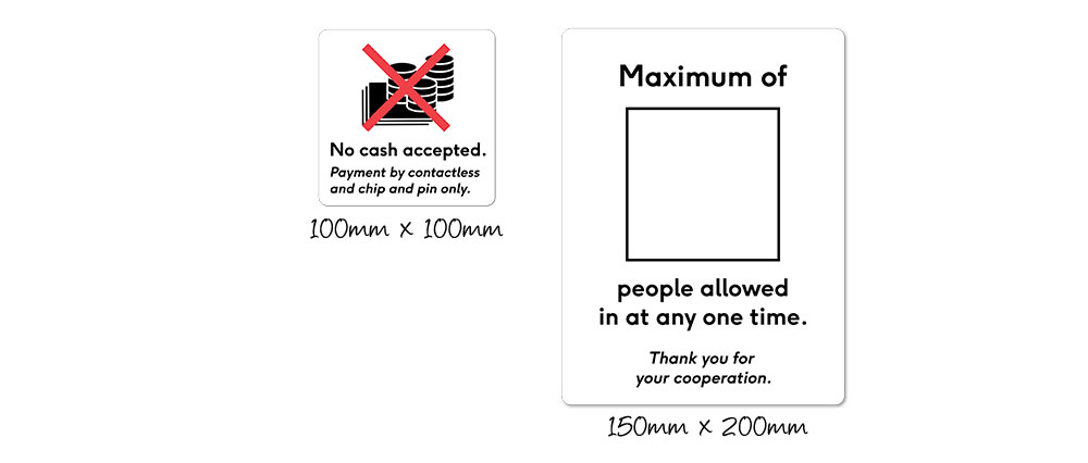 Covid-19 window stickers - maximum in store