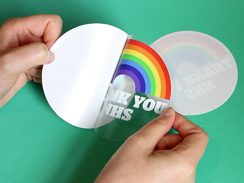 Die cut window stickers