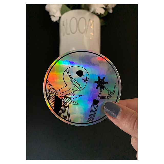 holographic halloween stickers