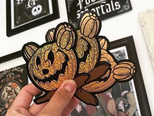 spooky custom sticker printing