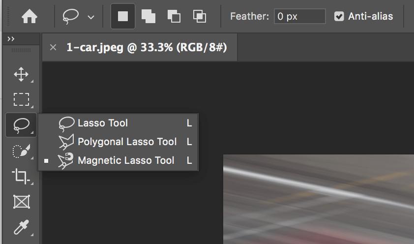 Magnetic lasso tool photoshop