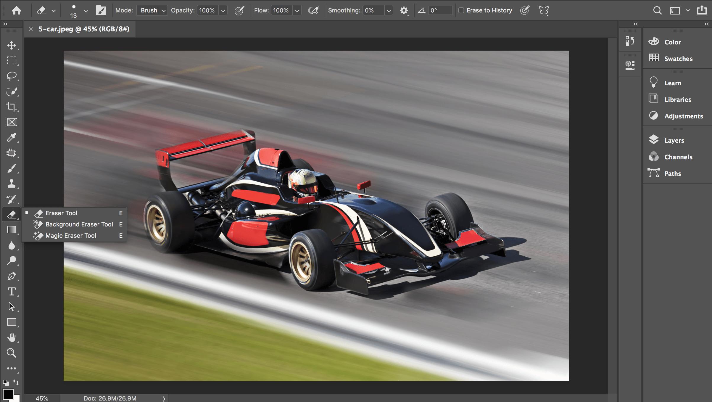 background eraser tool photoshop