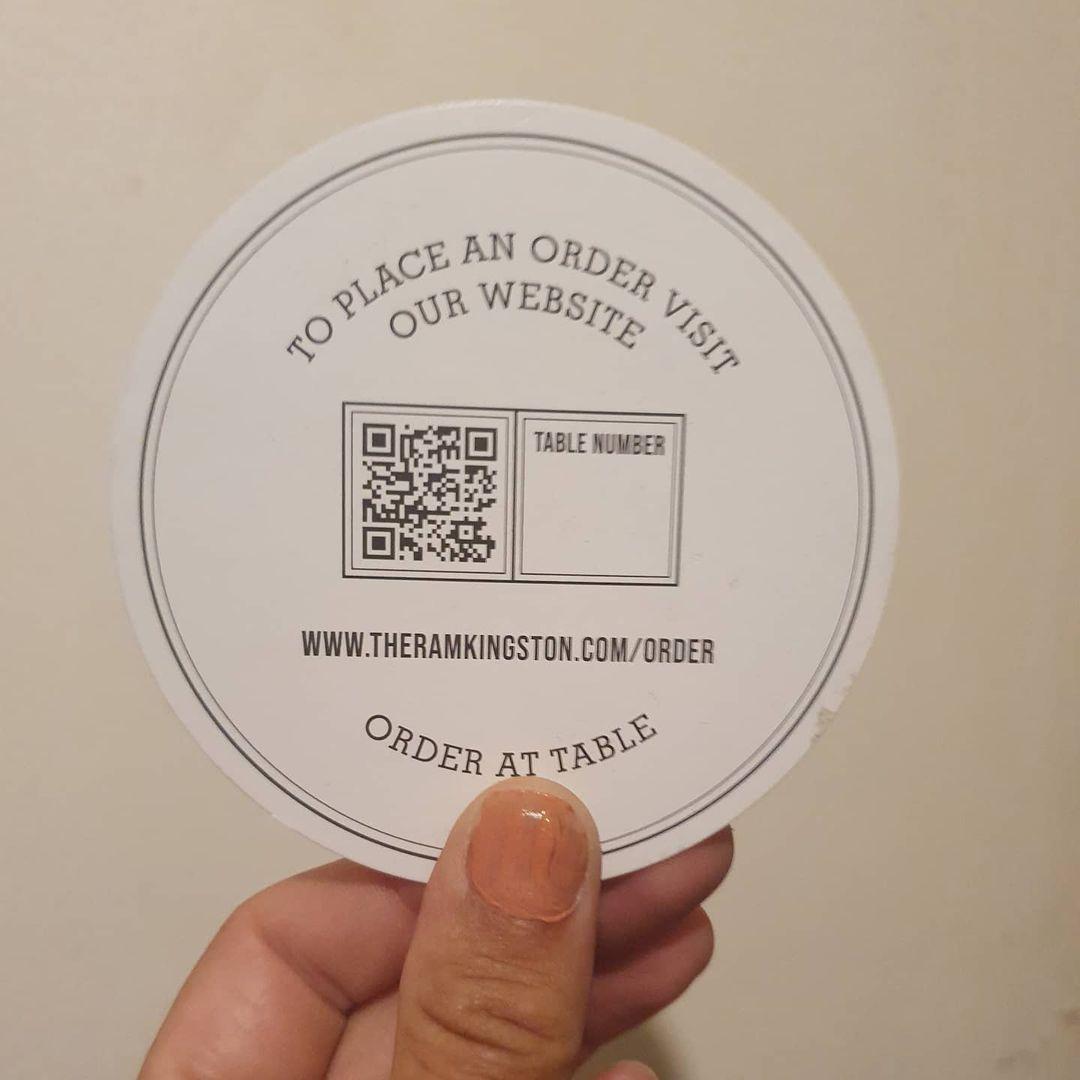 QR Code pub order sticker