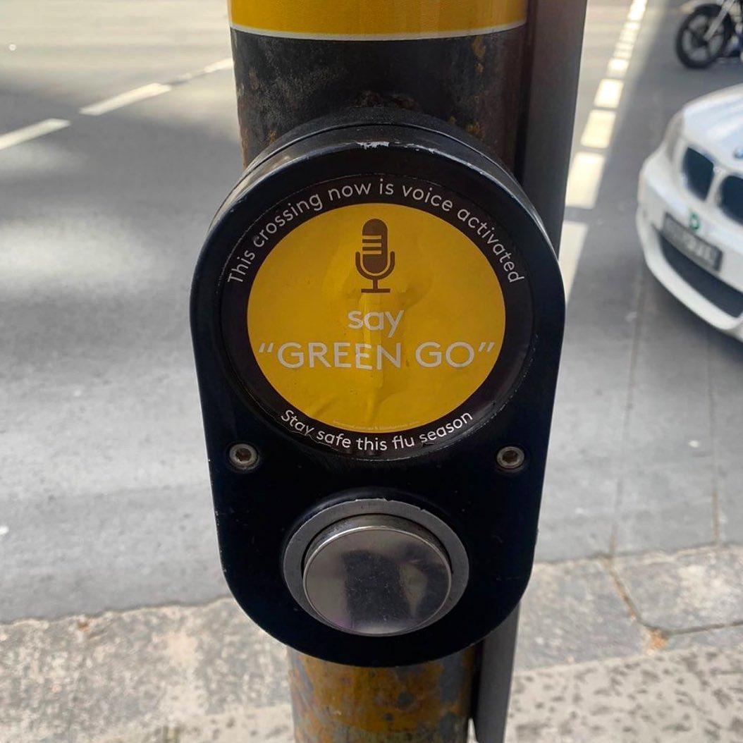 Pedestrian crossing sticker