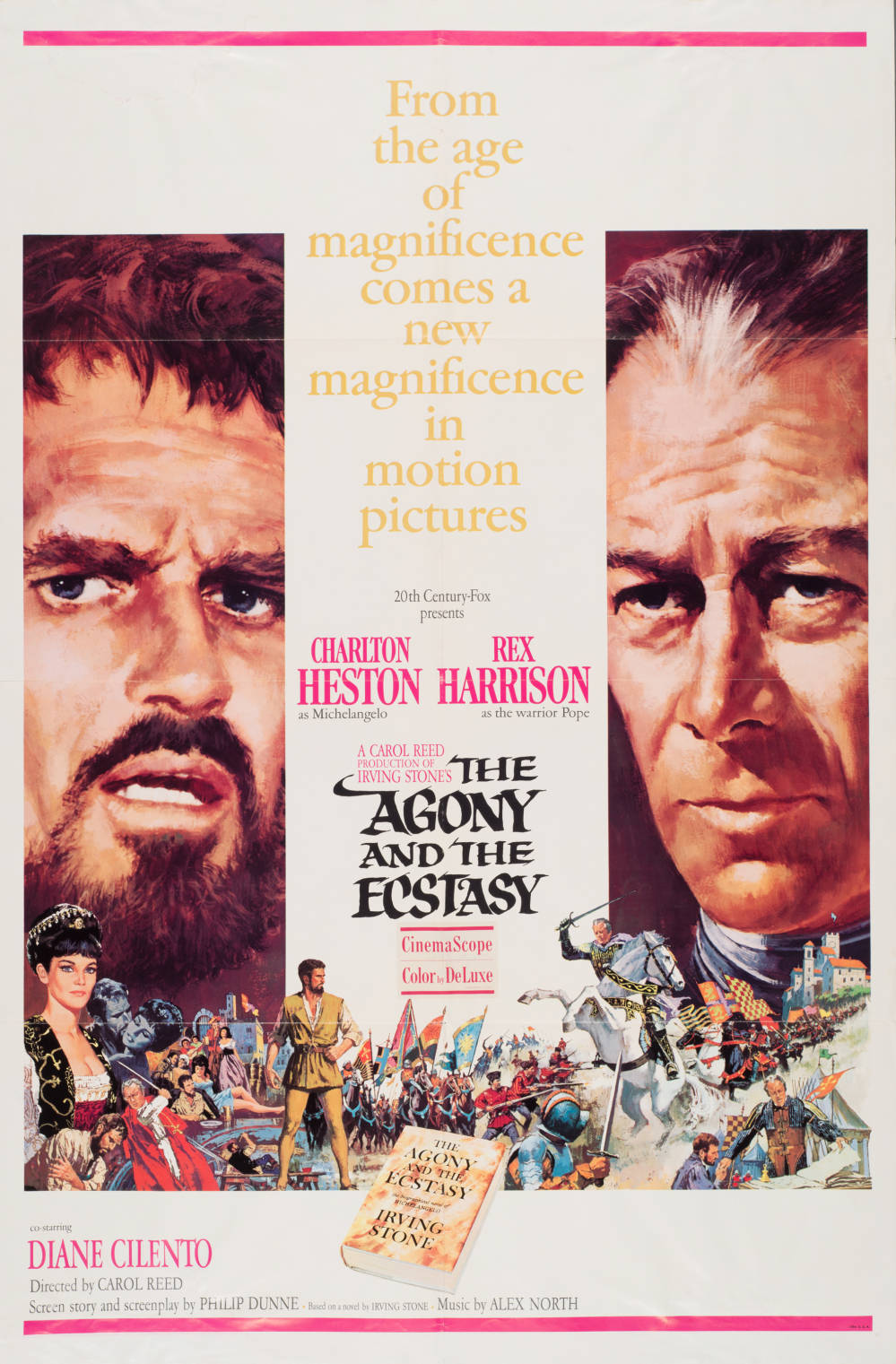 the agony and the ecstasy movie poster print
