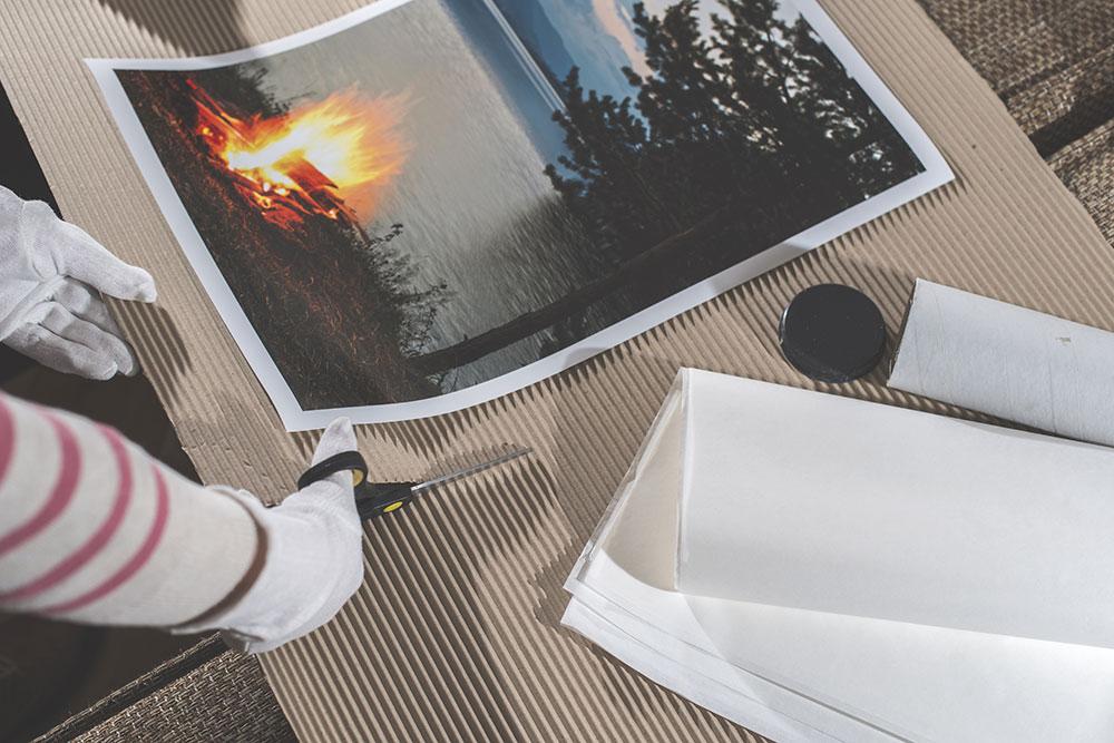 packing personalised prints
