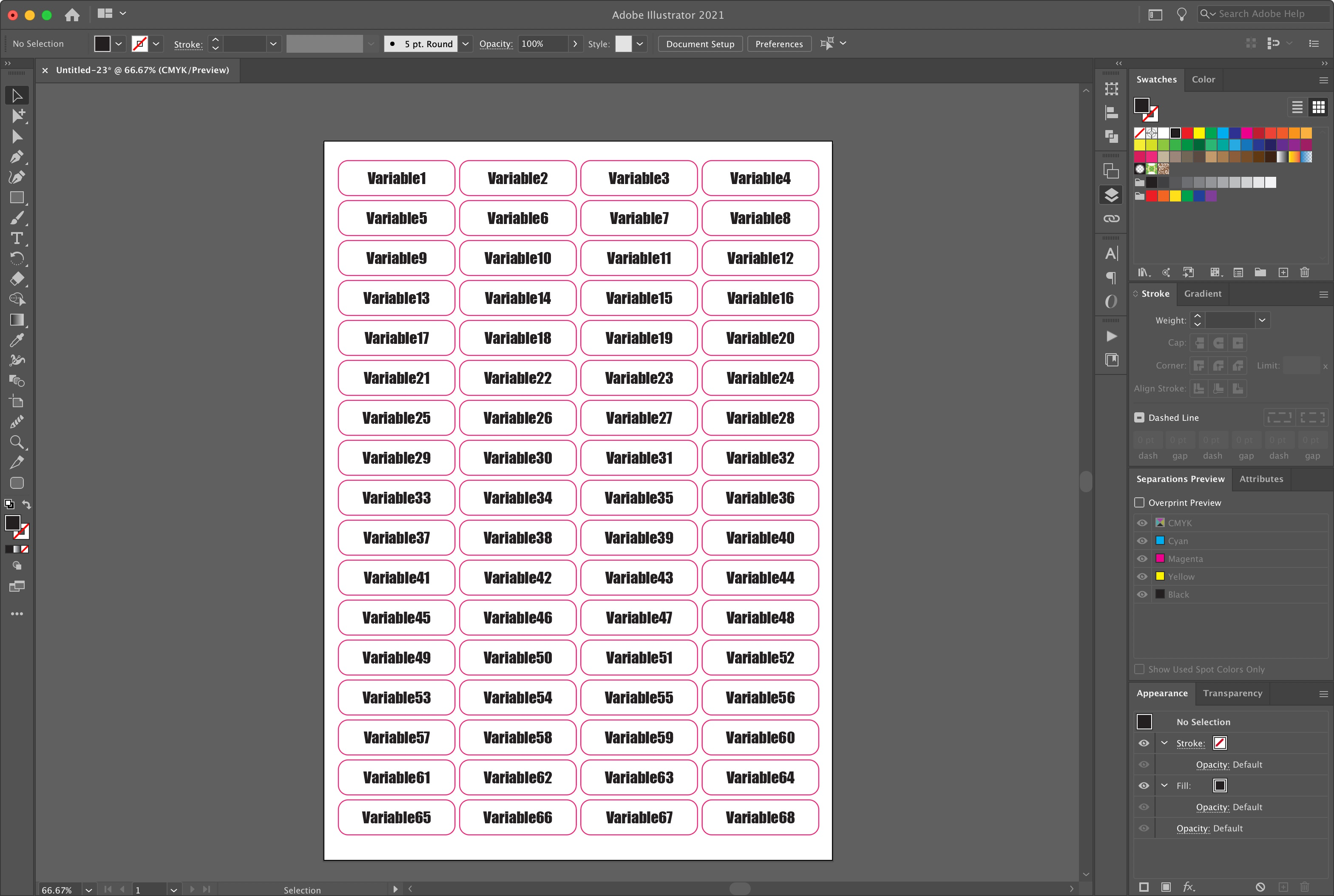 adobe illustrator variable data