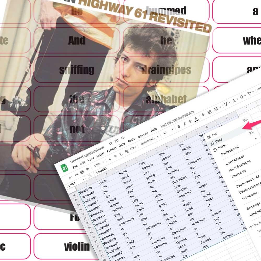 make a variable data sticker sheet