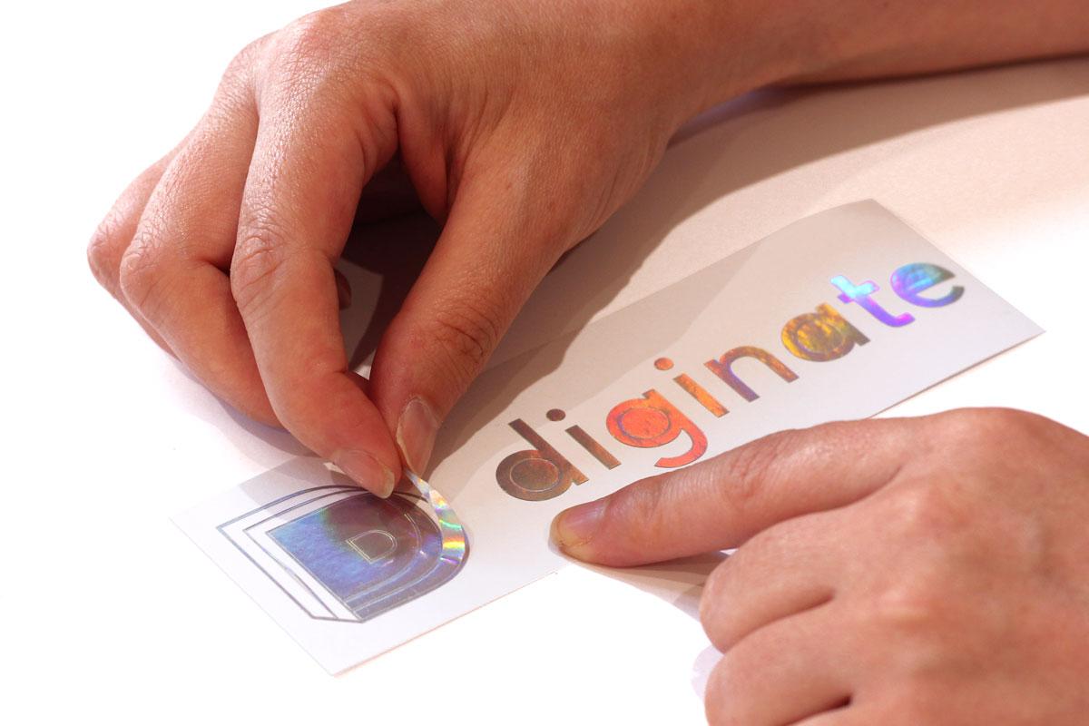 holographic cut vinyl lettering